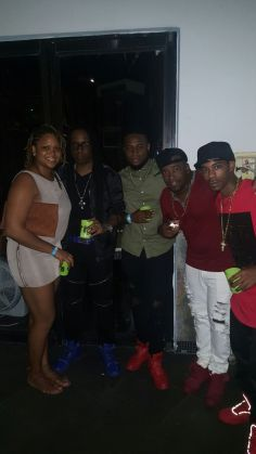 The St. Lucian team in Miami